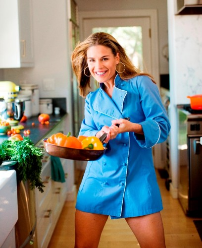 Chef Cora nopants 408x500 Iron Chef Cat Cora Sexy Cat Cora