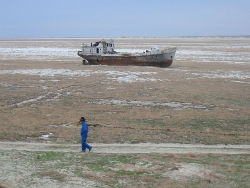 Aralship2 500x375 Aral Sea shrinkage Sad :( Nature