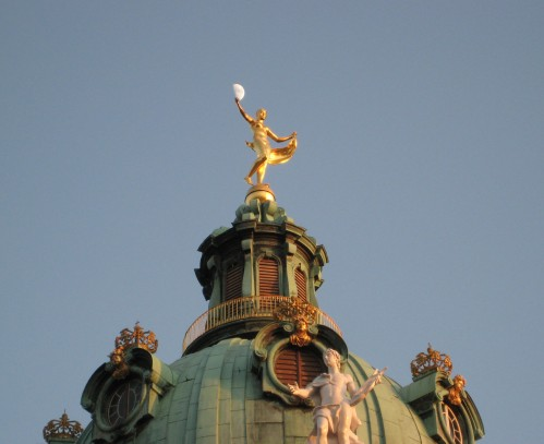 The top of Schloss Charlottenburg