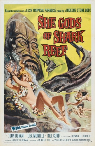 she gods of shark reef poster 01 326x500 She Gods of Shark Reef Tiki Movies Movie posters