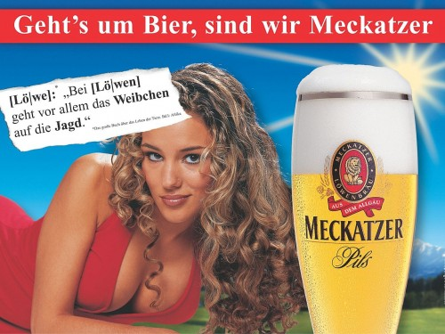 loewin1280 500x375 Meckatzer Beer Sexy Alcohol Advertisements