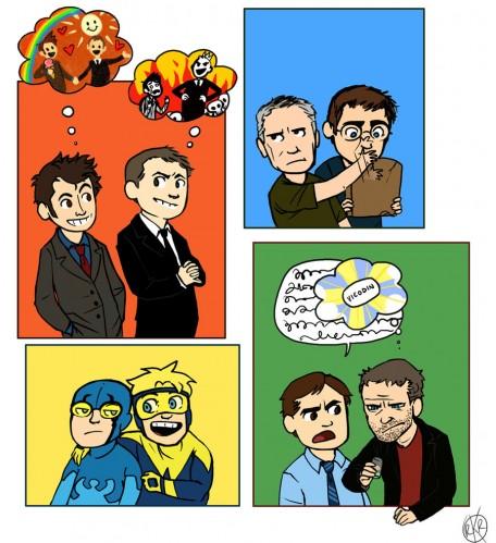 bromance 456x499 Bromance Television gay Comic Books