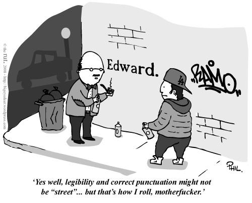 Grammarfiti Edward. Humor