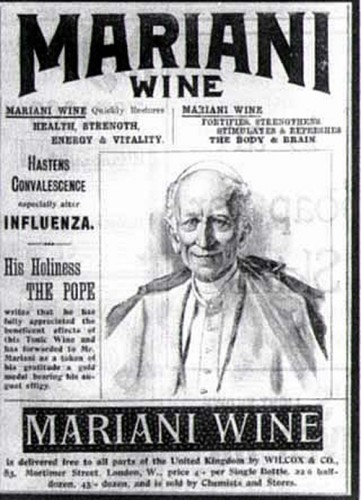 pope 361x500 Mariani wine Politics Alcohol