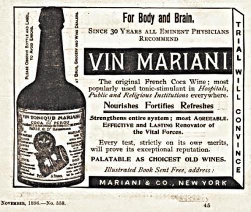 vin mariani 1896 500x422 Mariani wine Politics Alcohol