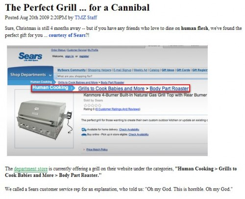 SearsBabyGrill 500x406 Sears Baby Grill Dark Humor advertisments Advertisements
