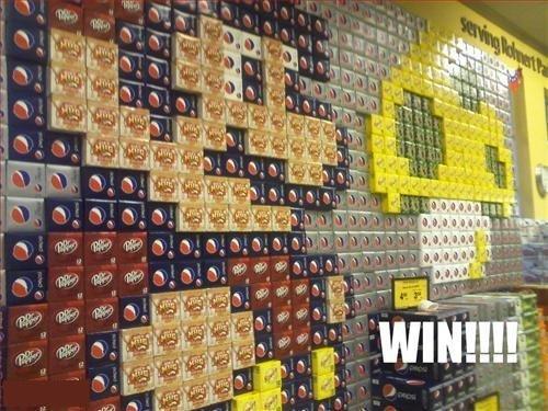 failownedsodadisplaywin Super Mario Soda