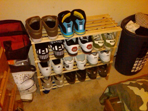 The Kings new shoe rack