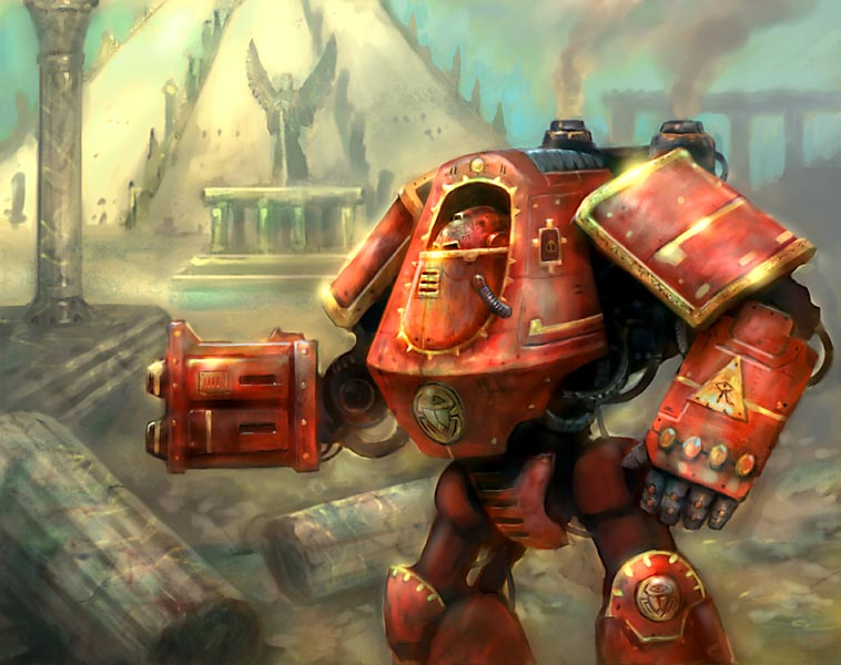 thousand sons dreadnaught by karichristensen Thousand Sons Dreadnaught Warhammer 40k