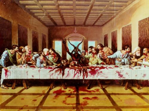 satan last supper.thumbnail Satanic Last Supper wtf Religion Humor