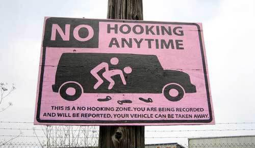 no hooking.thumbnail No Hooking Warning Sign wtf Politics Humor