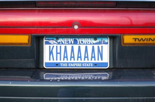 Khaaaaan Licence Plate Movies Holiday
