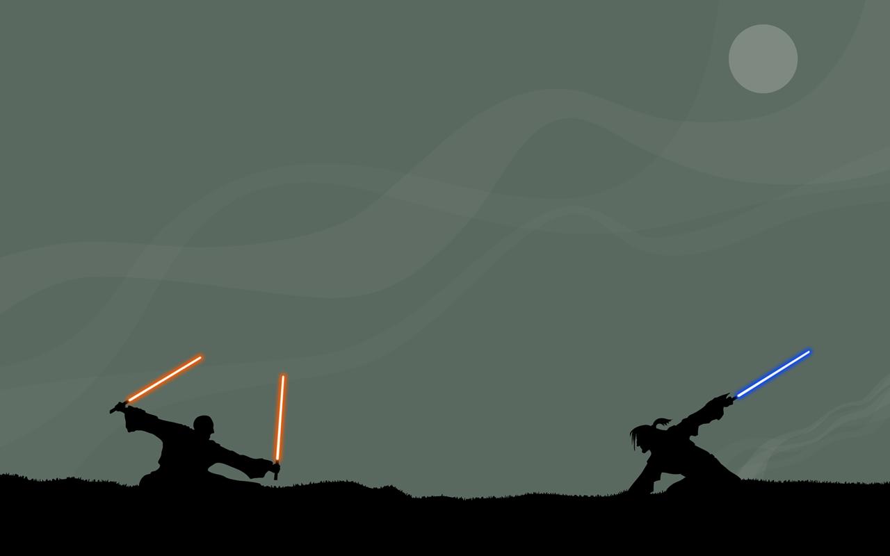 Star Wars Jedi Duel Dual Monitor Wallpaper Myconfinedspace