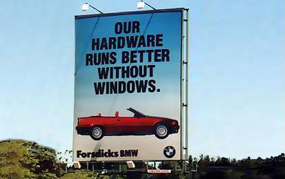 bmw no windows Runs better without Windows Holiday Computers Advertisements