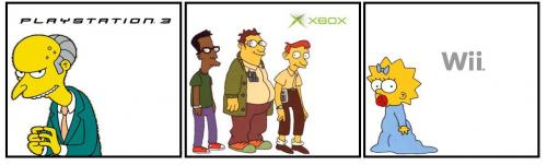 ps2 x box wii1.thumbnail PS3 Vs X Box Vs Wii (simpsons) Television Humor Gaming