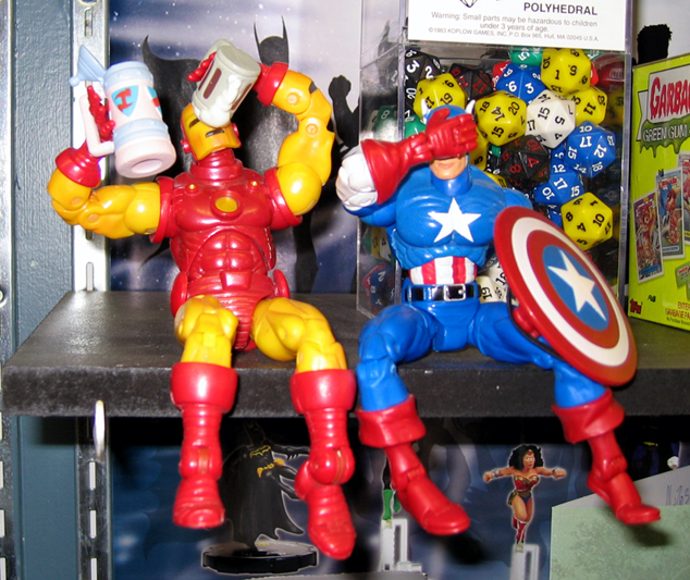 drunk iron man captain america Drunk Iron Man And Captain America Toys Humor Comic Books