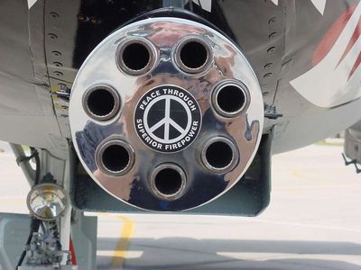 peace Peace through superior firepower wtf Wallpaper Military Humor