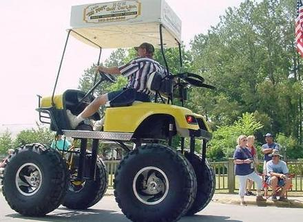 ultimategolfcart Ultimate Monster Golf Cart wtf Toys Humor