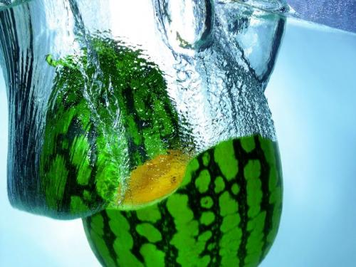 mellon.thumbnail Green Mellon Splash Wallpaper Food
