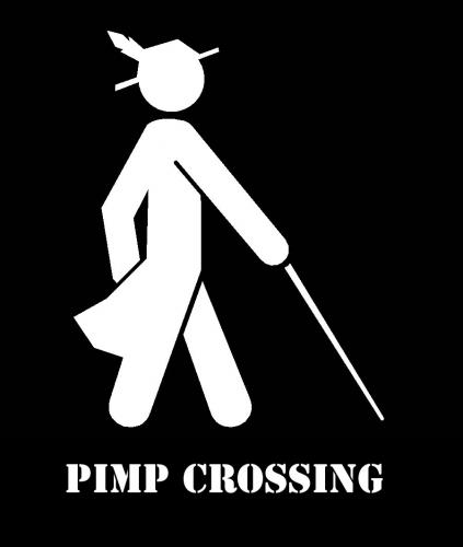 pimp crossing.thumbnail Pimp Crossing wtf Humor Forum Fodder