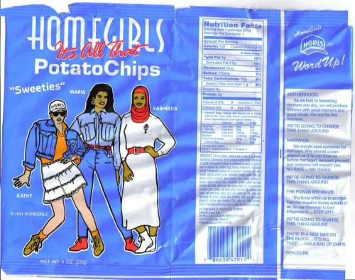 homegirls1 500x394 Homegirls Potato Chips   Its all that wtf Sexist Humor Food