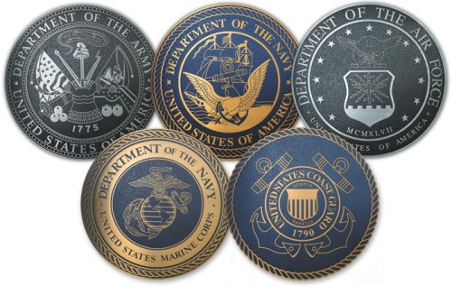 military branches 500x317 USA Military Branches Politics
