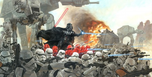 vader with troopers 500x255 Darth Vader With Storm Troopers Wallpaper star wars