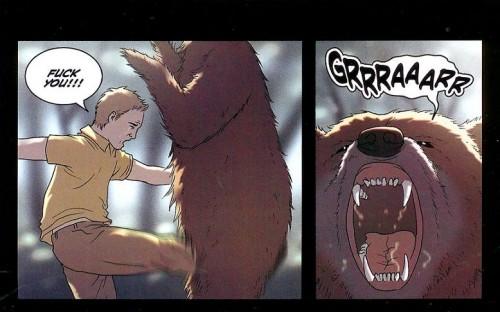 kick a bear in the balls