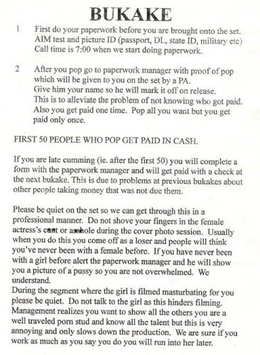 Bukake Instructions