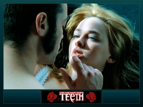 teeth wallpaper wrong move 500x375 Teeth Wallpaper   Wrong Move wtf Wallpaper Dark Humor