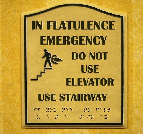 in flatulence emergency do not use elevator use stairway In Flatulence Emergency do not use elevator use stairway Humor