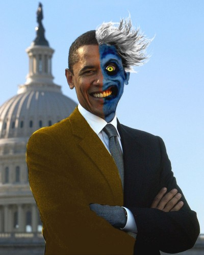 obama two face 400x500 obama   two face Politics Humor Comic Books