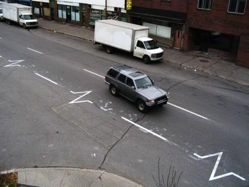 Life signal road lines