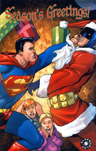superman vs batman christmas 319x500 Superman Vs Batman   Christmas xmas X Mas Humor Comic Books