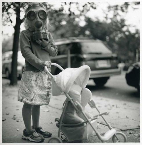 Child With Gas Mask on