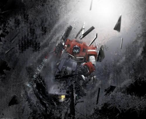 Optimus Prime - Shattered Earth Wallpaper