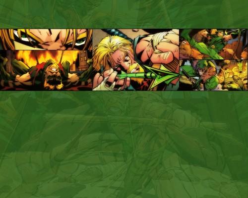 Green Arrow In Action