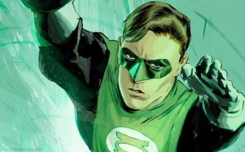Green Lantern - Hal Jordan In Flight
