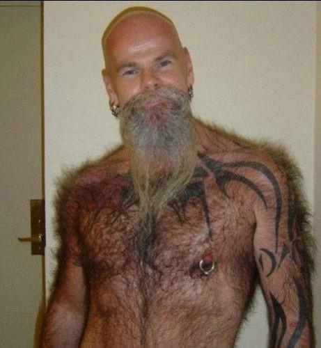 hair tattooed man