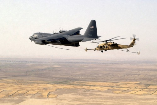 Helicoptor In Flight Refueling