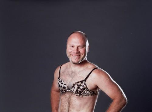 man in bra