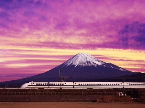 Speed Train Before Mountain