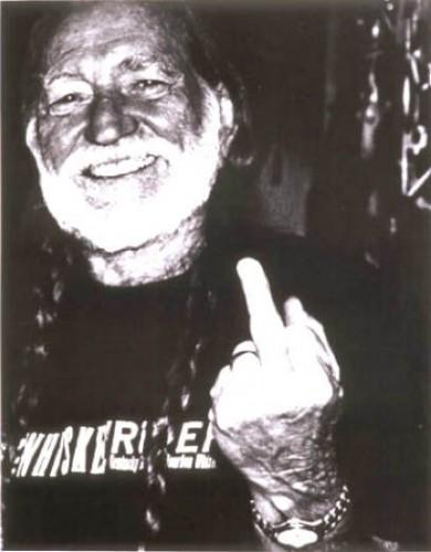 willie nelson - middle finger