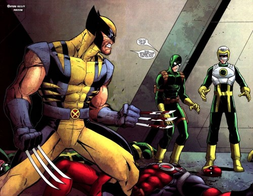 wolverine cut off some dudes head 500x388 Wolverine Cut Off Some Dudes Head Humor Comic Books