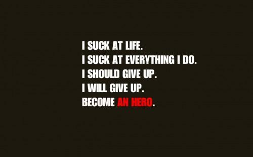 I suck at life