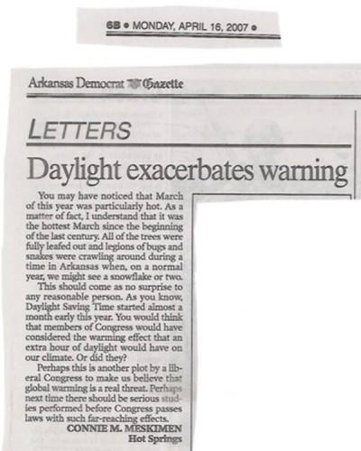 daylight exacerbates warning