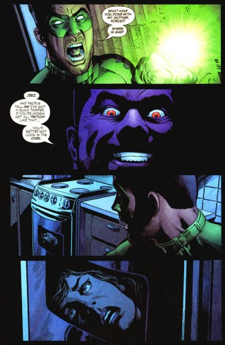 green lanterns mom is in a stove