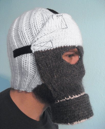 knitted gas mask knitted gas mask wtf Gas Masks