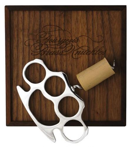 wine cork brass knuckles