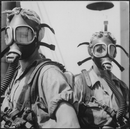 Gas Masked Women